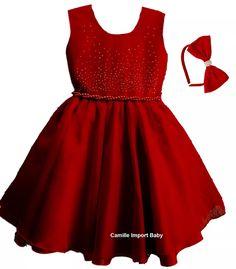 Vestido Infantil Festa Luxo Turma Da Mônica 2 Ao 16 E Tiara - R$ 97,90 em Mercado Livre