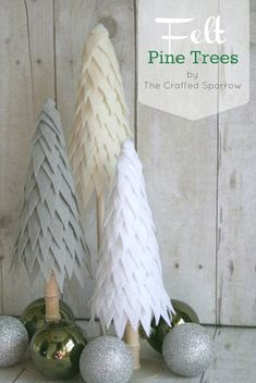 Pine Tree craft on Whipperberry - so pretty!