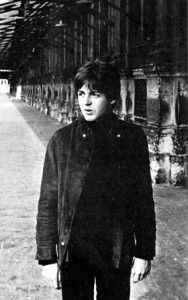 Late 1965. Paul wearing the same jacket used on the cover of 'Rubber Soul'.