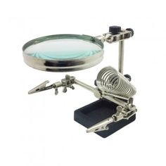 Helping Hand Magnifier with Soldering Station