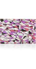 Emilio PucciPrinted patent-leather document holder
