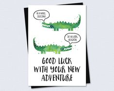 Farewell Card / Goodbye Card  Good luck with by RiverRainDesigns