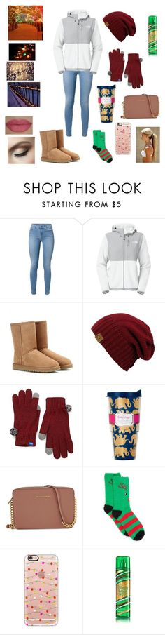 """Day 2: Christmas lights"" by ammurphy ❤ liked on Polyvore featuring The North Face, UGG Australia, Keds, Lilly Pulitzer, Michael Kors, New Directions, Casetify, She's So and southernchristmas"