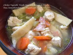 Addicted to Recipes: Chicken Vegetable Soup with Homemade Noodles
