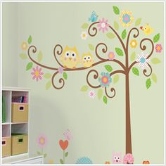 owl wall sticker for toddler room.