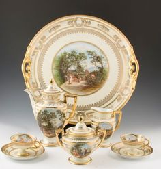 Royal Vienna Demitasse Set late 1th century