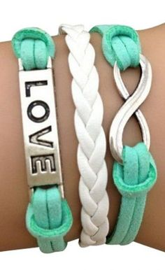 """Love"" and Infinity Arm Party Bracelet"