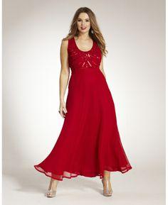Long Beaded Dress at Simply Be