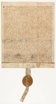 The Magna Carta - Featured Document  National Archives & Records Administration  King John of England in 1215 was forced to recognize feudal rights in the Magna Carta.