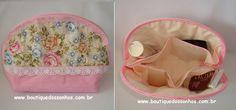 Materiais :     tecido   tricoline   estampado floral   tecido  tricoline liso rosa   tecido  algodão crú lavado   manta  estruturada R1 ...