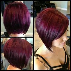 lovely red purple haircolor