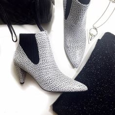 """Alexander Wang Textured Leather Booties Details: • IT 38, fits 7.5 • Speckled textured leather • Ribbed suede elasticized panel • Pull on style • 3"""" heel • Not well suited for wide feet • Brand new in box Alexander Wang Shoes Ankle Boots & Booties"""