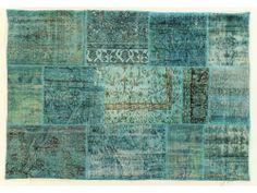 Turquoise Overdye Rug PW491
