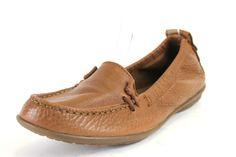 Hush Puppies Ceil Tan Leather Flats