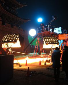 Movie shooting in Qingdao, China - #Airstar #movie #lighting #cinema #Tube #Solarc #China