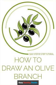 How to draw an olive branch