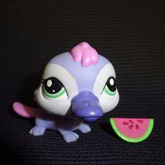 Littlest Pet Shop 2528 Platypus Violet Purple LPS Toy HASBRO 2009