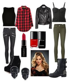 """Teen wolf Erica Reyes"" by alex2115 ❤ liked on Polyvore featuring Acne Studios, Forte Forte, River Island, rag & bone/JEAN, Smashbox and Tarina Tarantino"