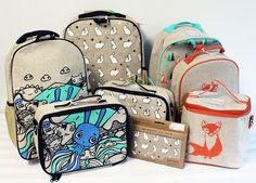 The GreenUP Store carries many reusable lunch bags including many shapes and designs by SoYoung, that are made from linen which is derived from the flax plant which requires substantially less pesticides, and 20 times less water and energy to harvest and produce. Machine washable, quick to dry, insulated, easy to clean, adjustable straps, and many strap to the outside of backpacks.