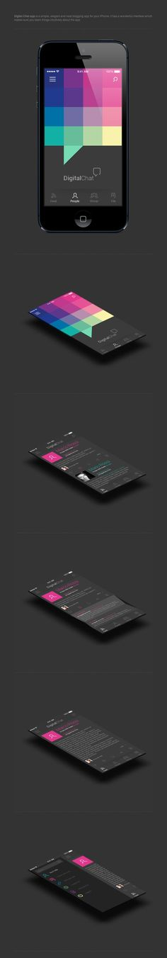 Digital Chat - #UI #UX #Interface #Mobile - | http://uidesigninspirations.blogspot.com