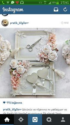 nişan tepsisi Wedding Gift Wrapping, Wedding Favor Bags, Engagement Ring Platter, Engagement Decorations, Flower Decorations, Black Red Wedding, Ring Bearer Pillows, Ring Pillows, Persian Wedding
