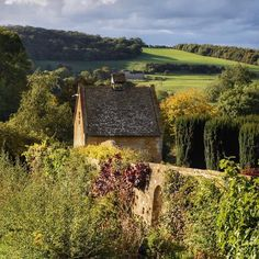 View to the Dovecote and surroundings at Snowshill Manor, Cotswolds.