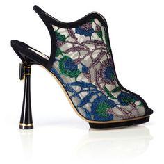 Nicholas Kirkwood Belle Epoque Embroidered Bow Heel Bootie