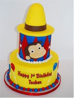 curious george cake - Google Search