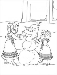 Frozen coloring page!