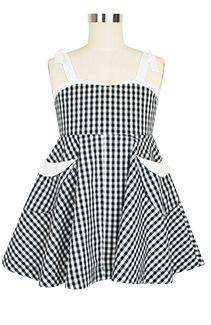 Rockabilly Baby Lil Lucy Dress kid5-tie-blackgingham