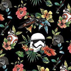 background, flower, pattern, star wars