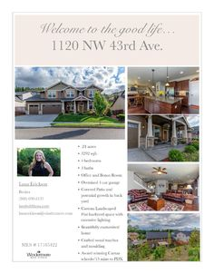 Real Estate for sale at $610,000! Come and view this beautiful four bedroom, two full and one half bath, 3292 square foot two story custom Lake Ridge North home with an office and bonus room on a large .24 acre lot located at 1120 NW 43rd Avenue, Camas, Washington 98607 in Clark County area 32 which is in the Camas city limits. The RMLS number is 17185422. It has one gas burning fireplace and a territorial view which includes a view of trees and a mountain. It was built in 2013 and has an…