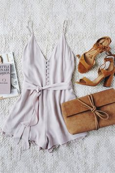 Adventure of a Lifetime Taupe Lace Romper