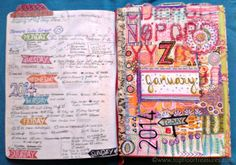 documented life project - zoe ford - week one - moleskine planner - art journal
