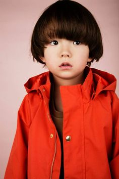 Because everyone should have at least one bright red anorak! This one is from Kids Brand Mini Rodini.