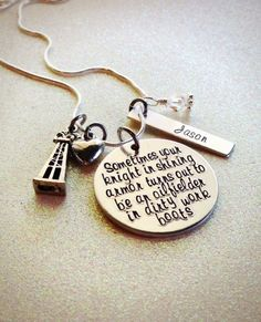 Custom Hand Stamped Oilfield Wife or Girlfriend, knight in shining armor necklace by GabbieGoodies, $30.00