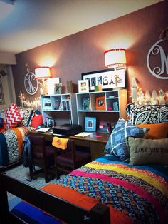 Coordinated and colorful college dorm room                                                                                                                                                     More                                                                                                                                                                                 More