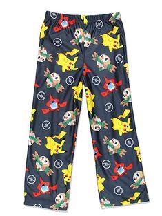 Nintendo Pokemon Boys Lounge Pajama Pants (Grey) Pikachu cbf3346f7