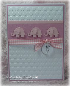 Inspiration for elephant from PTI baby set. Turn card horizontally for them since they're bigger.