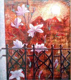 Igor Holas - In the balcony, 2012, oil on canvas, 60x70cm, www.igorholas.cz