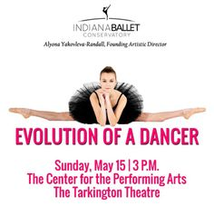 What to do near Indianapolis-Indiana Ballet-Evolution Of A Dancer-Tarkington Theater:
