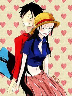 We love nico robin vk one piece - Luffy x nico robin ...