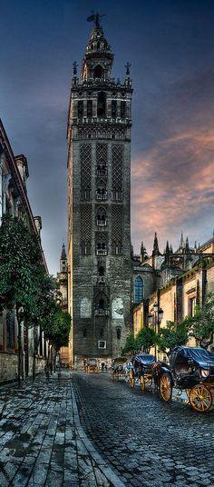 La Giralda (1172-82, 1568), Catedral de Santa Maria de la Sede. Almohade y Renacentista. Sevilla, Andalucia, España.
