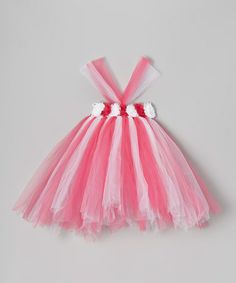 Take a look at this Pink & White Flower Tutu Dress - Infant, Toddler & Girls by Bébé Oh La La on #zulily today!