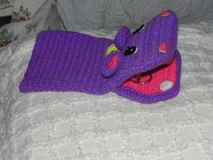 Crocheted hand puppet
