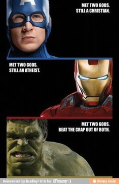 Hulk was great in Avengers. Why can't they make a decent Hulk standalone movie? met-two-gods Memes Marvel, Dc Memes, Marvel Funny, Marvel Movies, Funny Memes, Funny Avengers, Funny Videos, Marvel Marvel, Funny Quotes
