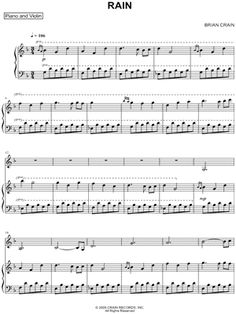 "Brian Crain ""Rain"" Sheet Music - Download & Print"