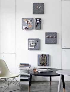 Reading corner - decoration on the wall is from Menu consists of several squares of felt - Housing: Nordic, at its best | Femina
