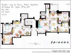 Friends Apartment...which was make-believe in its own rite because Rachel and Monica would never have been able to afford it!!