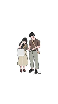 Ideas Wall Paper Cartoon Couple Illustrations For 2020 Cute Couple Drawings, Cute Couple Art, Anime Love Couple, Cute Drawings, Cute Couples, Cute Couple Cartoon, Couple Ideas, Iphone Cartoon, Cartoon Art